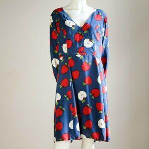 Modcloth Apple Print Short Dress SZ XL